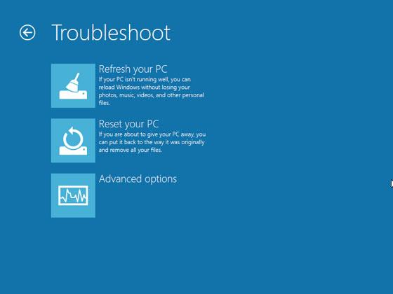 Преинсталиране на Windows 8 с PC Reset и PC Refresh